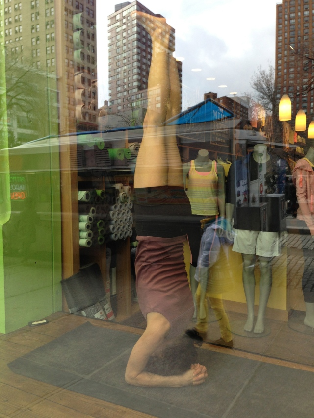 In the window at Lululemon